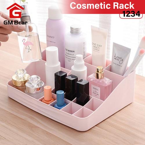GM Bear Rak Kosmetik Mini Makeup Organizer Storage Box-Cosmetic - Merah Muda 1