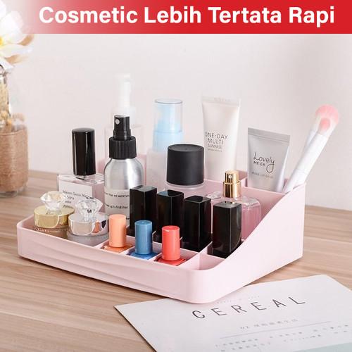GM Bear Rak Kosmetik Mini Makeup Organizer Storage Box-Cosmetic - Merah Muda 4
