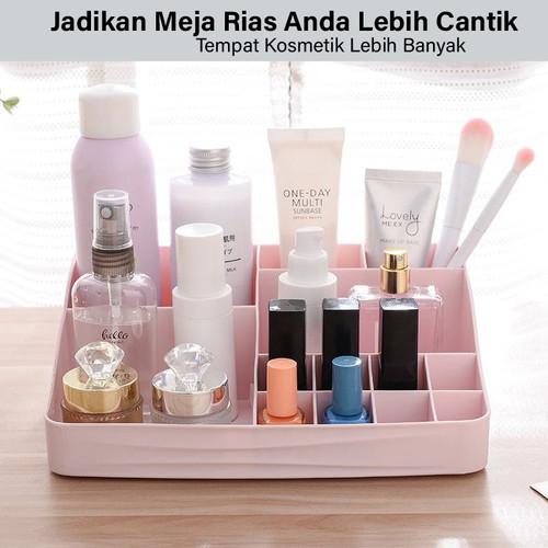 GM Bear Rak Kosmetik Mini Makeup Organizer Storage Box-Cosmetic - Merah Muda 5