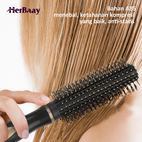 Herbaay Hair Comb Sisir Anti Kusut Anti Listrik Statis - Hitam 4