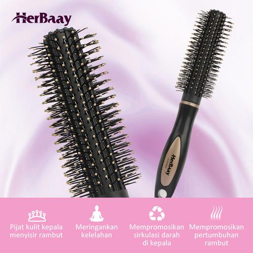 Herbaay Hair Comb Sisir Anti Kusut Anti Listrik Statis - Hitam 3