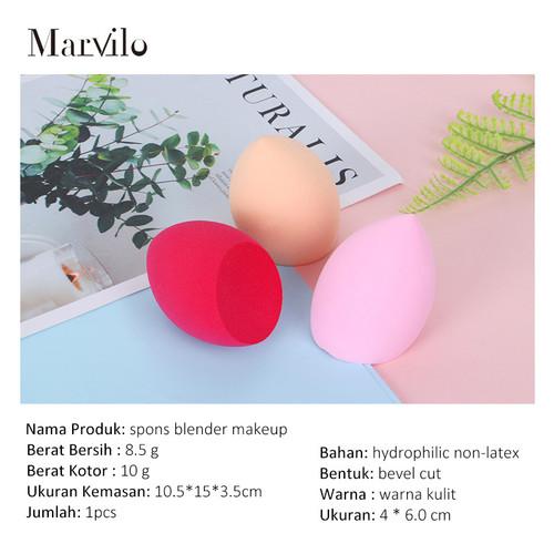 Marvilo Beauty Sponge Blender Foundation Bentuk Miring - Krem 5