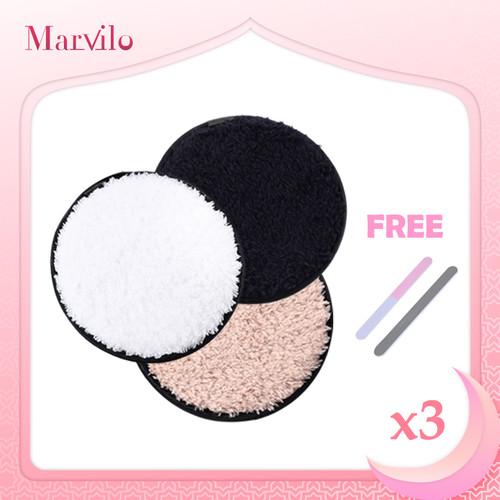 [BUY 3 GET 4] Marvilo Cotton Pad Makeup Remover Kapas Pembersih Wajah - Hitam 1