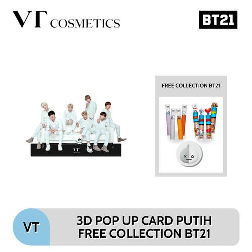 [3D POP UP CARD PUTIH] FREE COLLECTION VT COSMETICS X BT21 EXP DATE - MIX 2 1