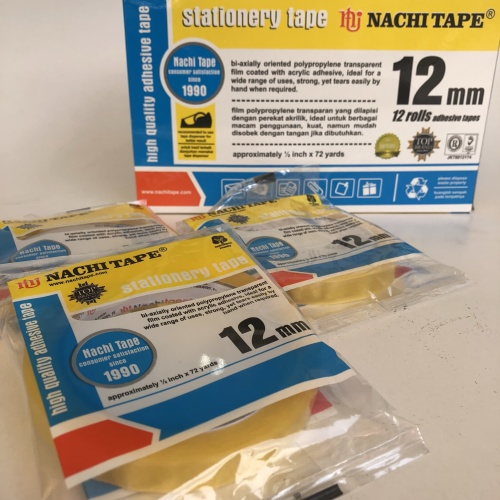 Foto Produk solasi NACHITAPE 12mm x 72y selotip packing olshop dari Toko LuShan
