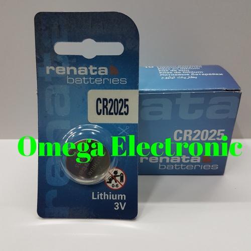 Foto Produk ORIGINAL CR2025 Baterai Lithium Renata 3V CR 2025 CR2025 Battery Batre dari Omega Electronic