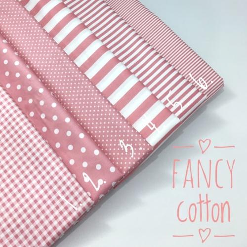 Foto Produk kain katun jepang motif dusty pink ori tokai senko - no 1 dari maxshop online