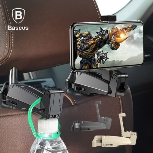 Foto Produk baseus backseat car mount hook phone bracket holder mobil original - Hitam dari Vilox