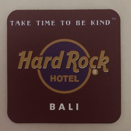 Foto Produk Alas Gelas (Coaster) Hard Rock Hotel Bali warna Merah Marun dari Jaxx Traveler