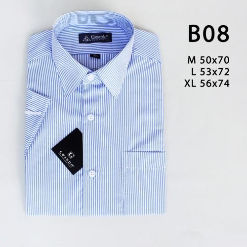 Foto Produk Kemeja pria murah motif tangan pendek ukuran reguler bahan cotton B08 - M dari sekambakarmurah