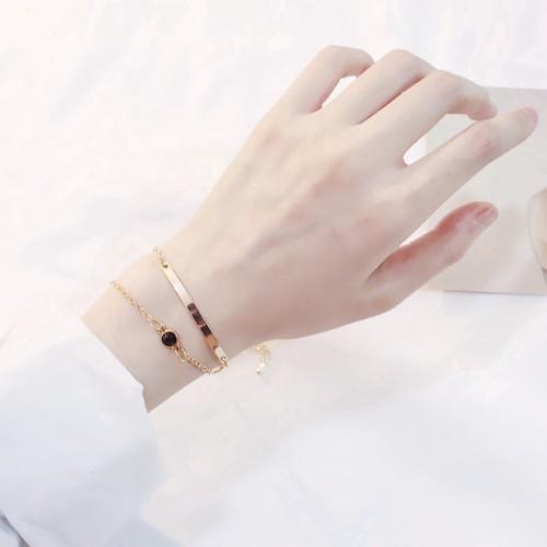 Foto Produk Gelang Wanita Korea Elegant Gold Silver Bracelet Crystal Simple dari Venditionis_shop