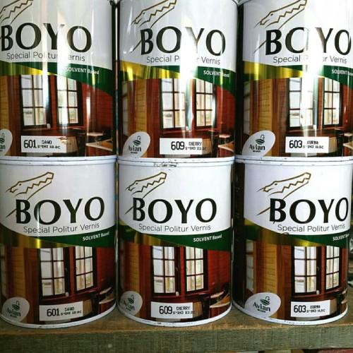 Foto Produk Boyo Politur Vernis Clear/ Transparant 1liter/ Plitur kayu Avian Brand dari toko cat sinar baru