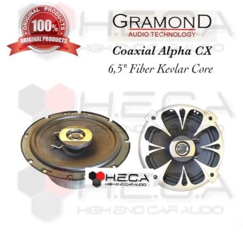 Foto Produk Gramond Alpha CX Speaker Mobil Coaxial 6.5 inch Fiber Kevlar Core dari High End Car Audio