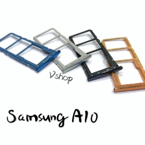 Foto Produk SIMTRAY - TEMPAT SIMCARD SAMSUNG A10 - A105 SLOT SIMCARD SIM TRAY - Gold dari vshop sparepart
