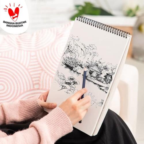 Foto Produk Deli Buku Gambar & Sketsa B5 25,2x17,9cm Vertikal 40 halaman 73628 dari Deli Stationery