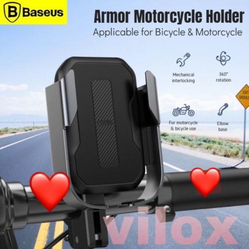 Foto Produk baseus armor motorcycle phone hp holder bracket mount sepeda motor - Hitam dari Vilox