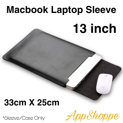 Foto Produk Tas Macbook Laptop Sleeve Case PU Leather ELEGANT SERIES 13 inch dari AppShoppe