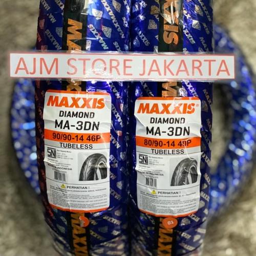 Foto Produk Maxxis MA3DN 80/90-14 & 90/90-14 Tubeless... PAKET HEMAT..!!! dari AJM Store Jakarta