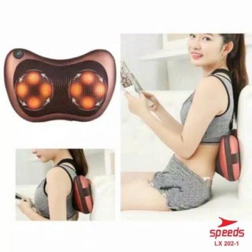 Foto Produk Bantal pijat massage pillow mobil Bantal Pijat Leher Punggung Portable dari Besar sport