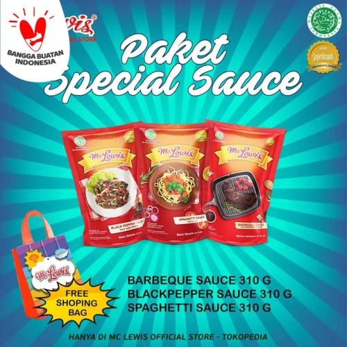 Foto Produk Paket - Barbeque Sauce - Blackpepper Sauce - Spaghetti Bolognese Sauce dari Mc Lewis
