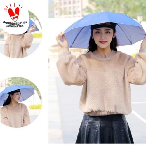 Foto Produk 50 cm Payung Topi / Topi Payung / Payung Kepala diameter 50cm - Random dari dajessvin