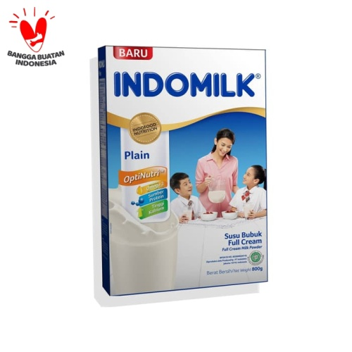 Foto Produk SUSU BUBUK INDOMILK FULL CREAM PLAIN 800G X Pcs dari Indomilk Official Store