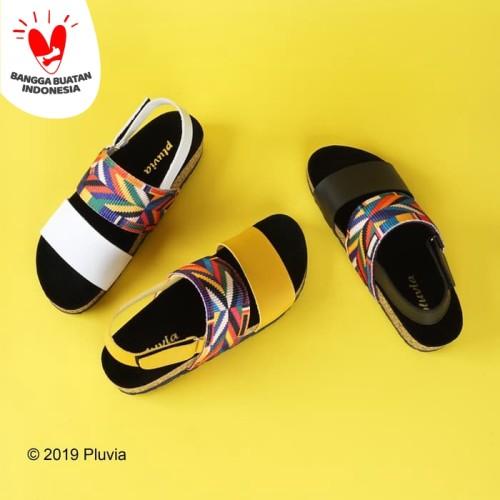 Foto Produk Pluvia - PRAYA Sandal Bohemian Tali Wanita - Putih, 38 dari Pluvia Shoes