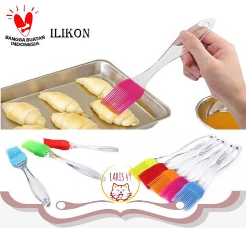 Foto Produk Kuas Silikon Roti silicone Cake barbecue Mentega Food Brush - KRS dari Laris49