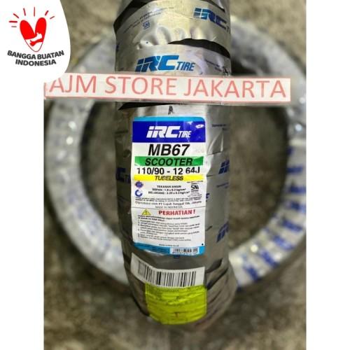 Foto Produk IRC MB67 110/90-12 Tubeless... Scoopy Ring 12 Belakang.. dari AJM Store Jakarta