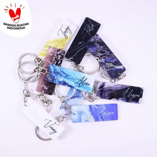Foto Produk Gantungan Kunci Label | Keychain | Marble dari Otello Laser Cut
