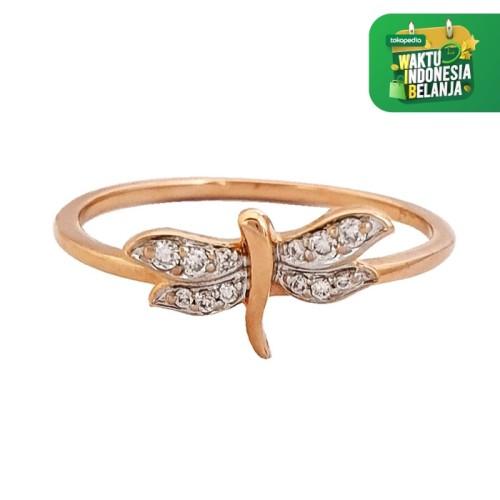 Foto Produk Cincin Ring Emas Berlian Fly Butterfly GDR 5961RY dari Goldmart Official Shop