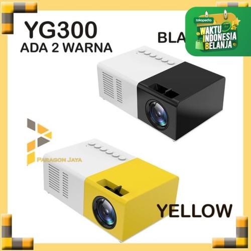 Foto Produk Mini Proyektor LED YG300 / YG-300 / YG 300 LCD Portable Projector Home - Hitam dari ParagonJaya