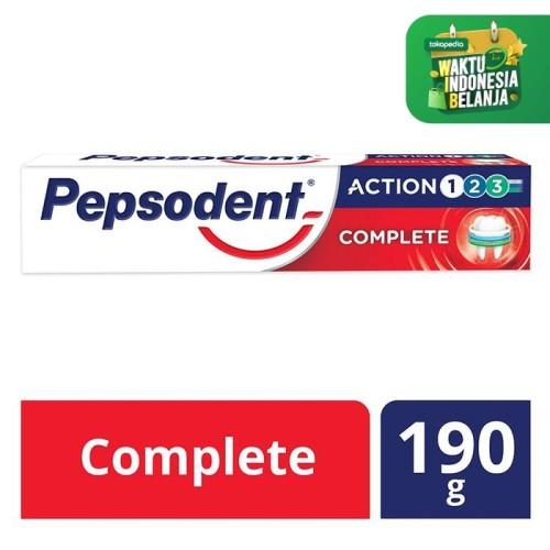 Foto Produk Pepsodent Action 123 Toothpaste Pasta Gigi Complete 190G dari Unilever Official Store