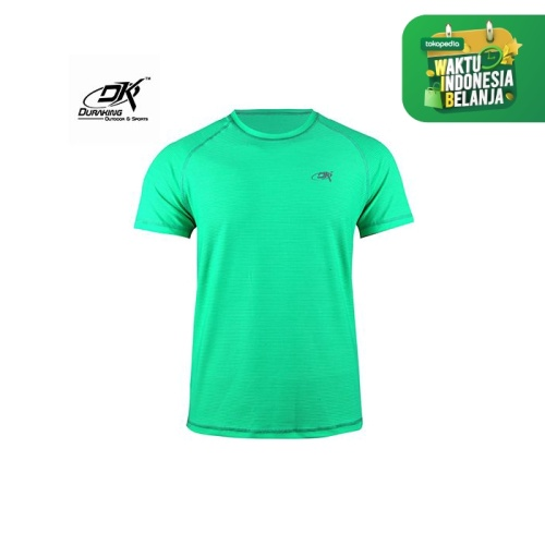 Foto Produk Running Jersey - DK Basic Color Tee Man Green Neon - S dari Duraking Outdoor&Sports