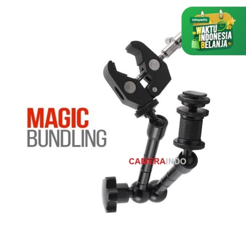 Foto Produk Magic Super Clamp for DSLR bracket penjepit - Plus Magic Arm dari cameraindo