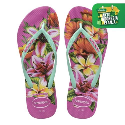 Foto Produk Havaianas Slim Floral Fc 0064-Hollywood Rose - Sandal Wanita - Merah Muda, 37-38 dari Havaianas Official Shop