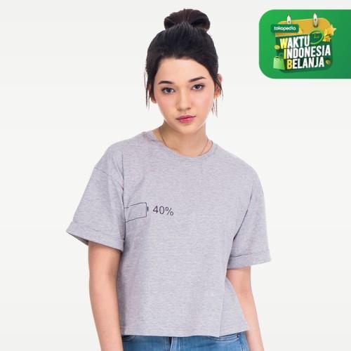 Foto Produk YOUNGSTER 1002 T-Shirt Keren Wanita Kaos Tumblr Tee Katun Premium - Abu-abu, S dari teetimeid