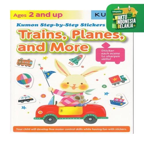 Foto Produk Buku Anak - Kumon - Step-by-Step Stickers: Trains, Planes, and More dari Kumon Publishing INA