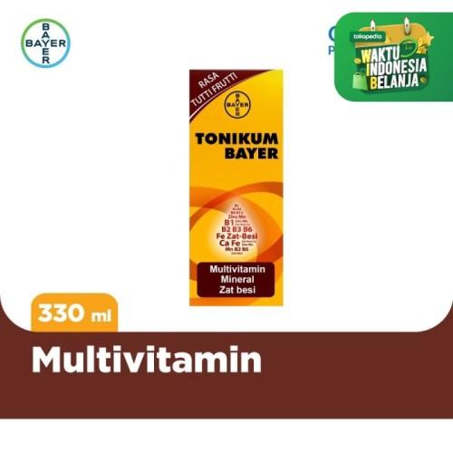 Foto Produk Tonikum Multivitamin, Mineral, dan Zat Besi Rasa Tutti Frutti 330ml dari Bayer Health Partner
