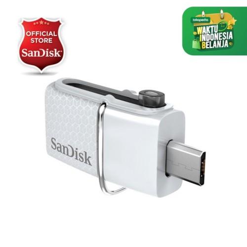 Foto Produk Sandisk USB 3.0 Ultra Dual USB Drive OTG 32GB ( White ) dari SanDisk Official