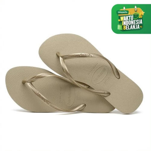 Foto Produk HAVAIANAS SLIM 2719-SAND GREY/LIGHT GOLD - MULTI, 39-40 dari Havaianas Official Shop