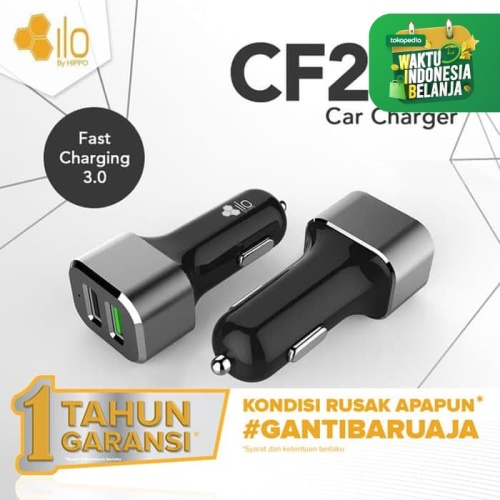 Foto Produk Hippo ILO CF202 Car Charger Mobil Quick Fast Charging 3.0 Value Pack dari iLo Official Store