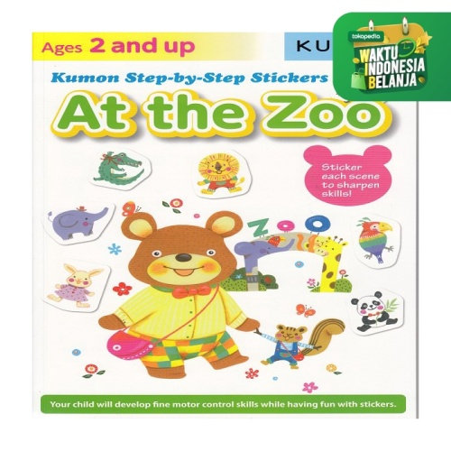 Foto Produk Buku Anak - Kumon - Step-by-Step Stickers: At the Zoo dari Kumon Publishing INA