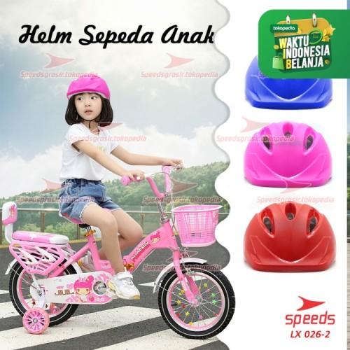 Foto Produk Helm Sepeda Anak untuk Skate board atau sepeda Ultra Ringan 026-02 - Merah Muda dari speedsgrosir