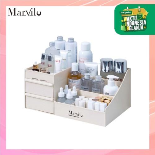 Marvilo Rak Penyimpanan Multifungsi Rak Makeup Organizer - Khaki 1