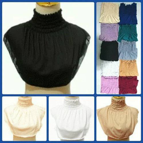 Foto Produk Manset Inner Leher Hijab / MANSET leher kerut Panjang dari hijab auliajogja