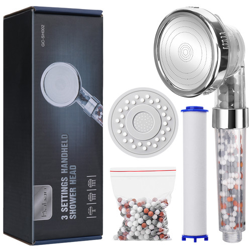 Foto Produk Ionic Shower Head Upgraded 4-Layer Filtration Universal Handheld dari Interest Shop
