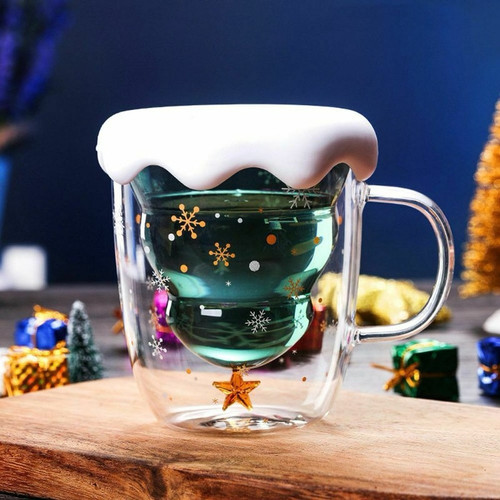 Jual Ristmas Tree Star Wishing Cup Double Wall Glass Latte Coffee Mug Kab Bogor Thunderstorm Shop Tokopedia