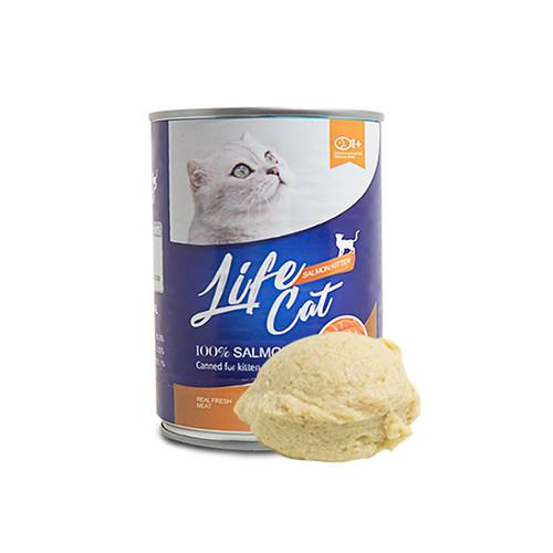 Foto Produk life cat 400 gr kitten salmon dari F.J. Pet Shop