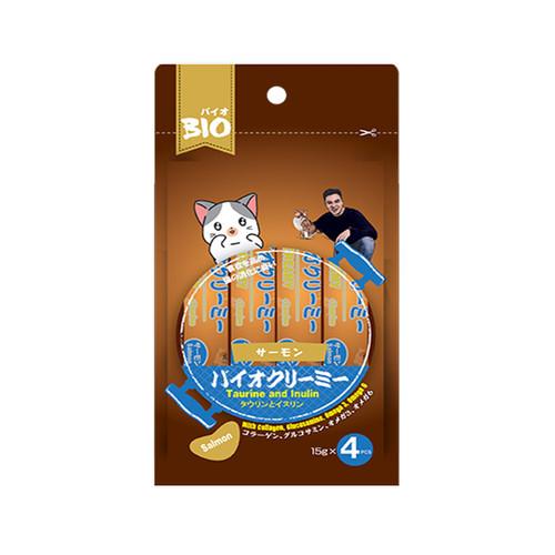 Foto Produk bio creamy 15 gr x 4 cat salmon dari F.J. Pet Shop